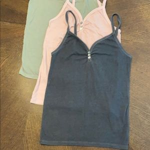 Set of AEO Ribbed Camisole Tanktops (3)